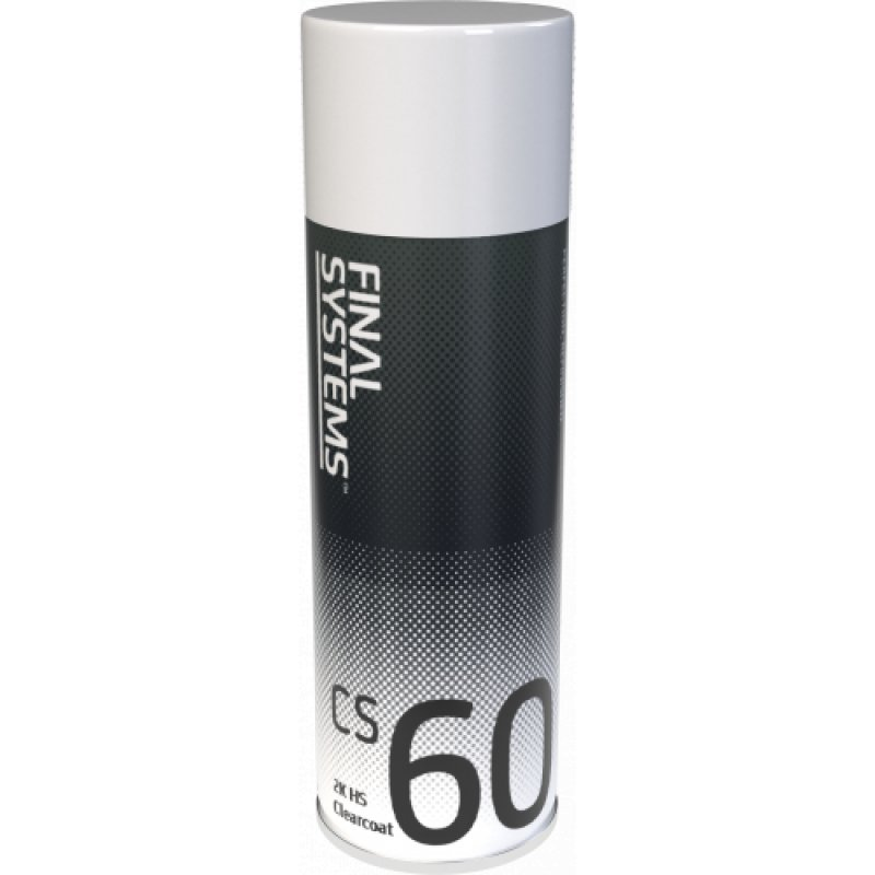 FINAL SYSTEMS CS60 - 2K HS CLEARCOAT 400ML AEROSOL - HIGH QUALITY - FREE POSTAGE